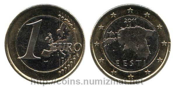 Estonia: euro - 1. ID = 2954