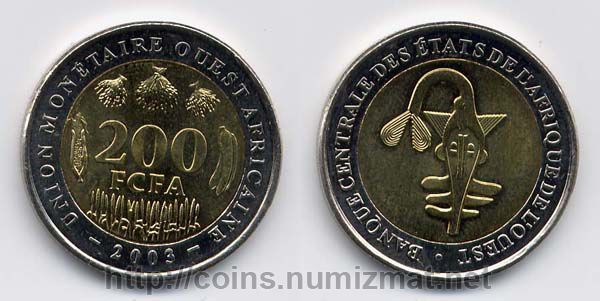 West African States: franc - 200. ID = 1278